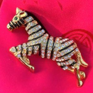 Jewelry - Sparkly Zebra Pin